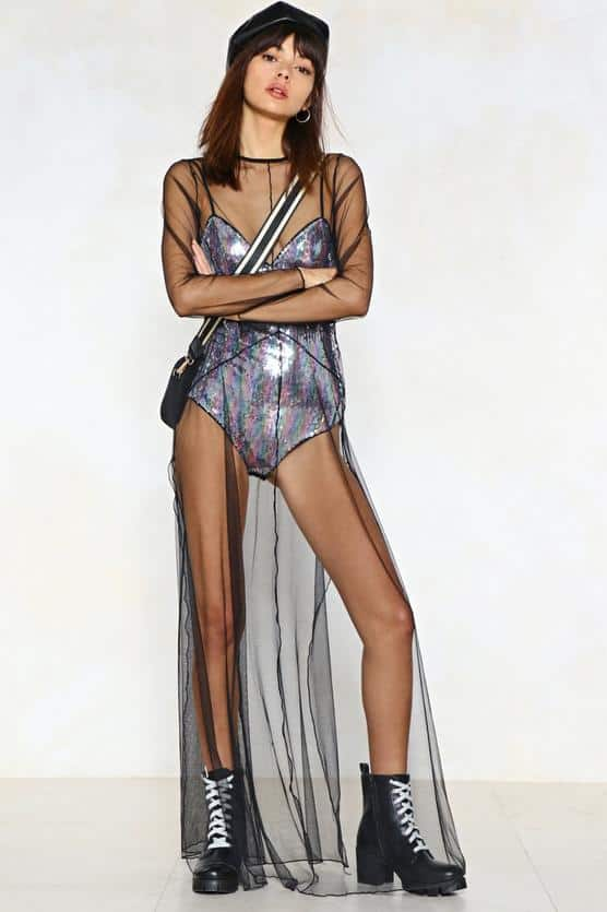 Sequin the After Party Mesh $48