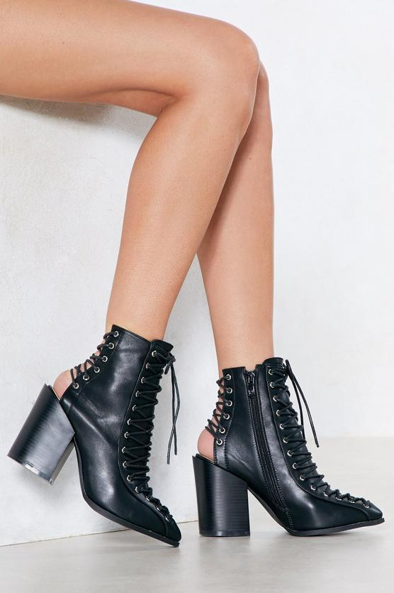 Of Corset is Lace-Up Bootie $42