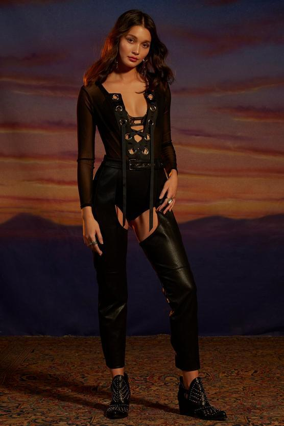 Gwen Vegan Leather Chaps $39