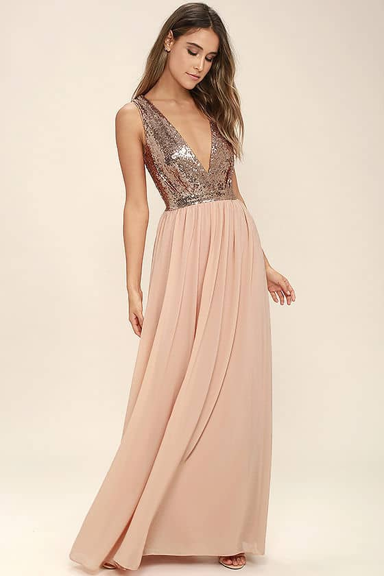 Rose Gold Sequin $100