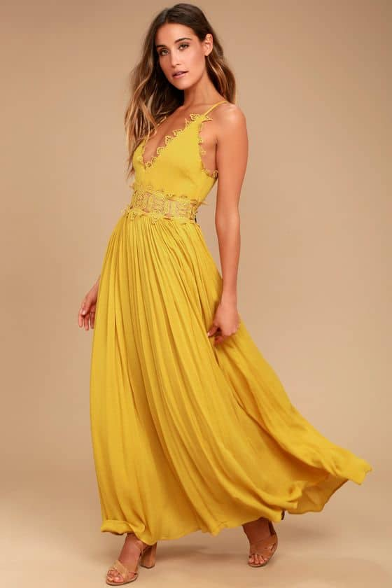 Love Mustard Yellow Lace $80