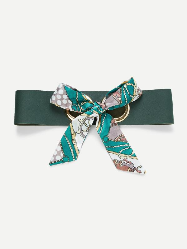 Scarf Bow Front PU Belt  $10
