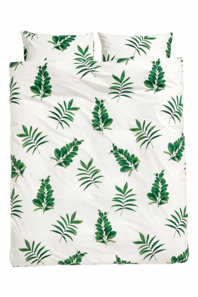 Leaf-print Duvet Cover Set $59.99