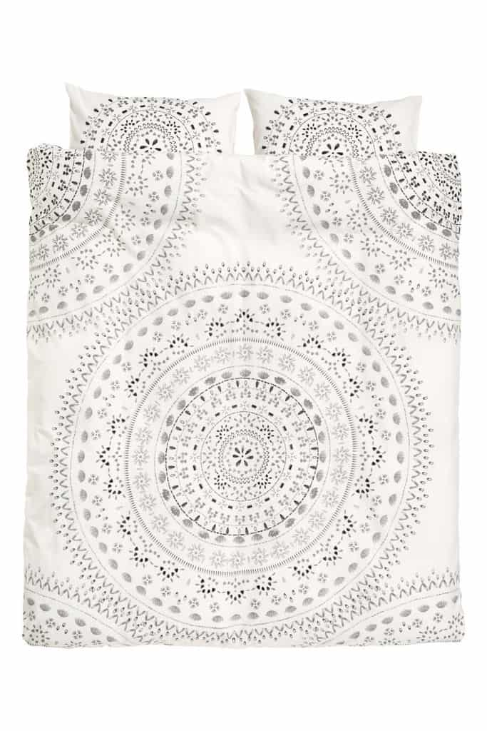 Patterned Duvet Cover Set $59.99