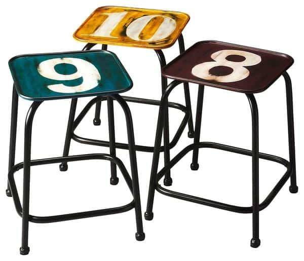 Modern Industrial Square Stool $379