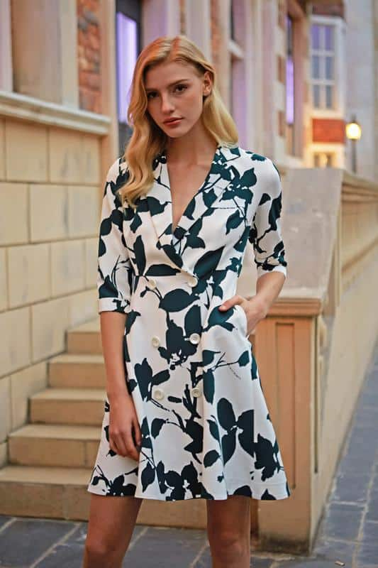 Double-Breasted Blazer Dress $85