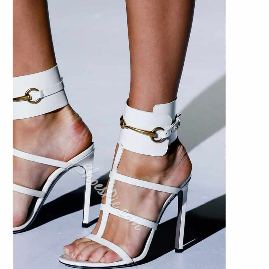 Metal Cut-out Sandals $81.67