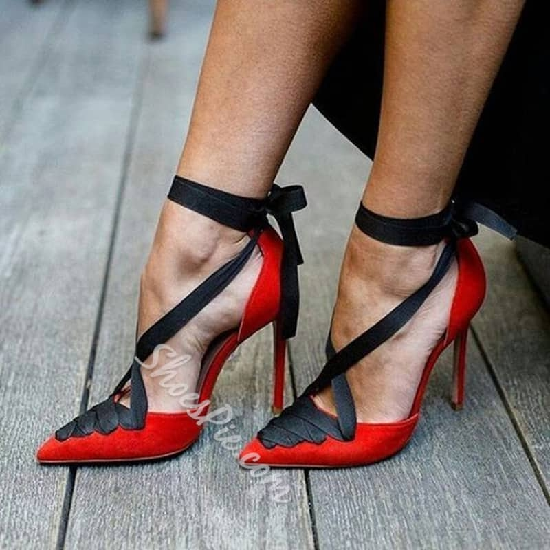 Lace-Up Red  $91.76