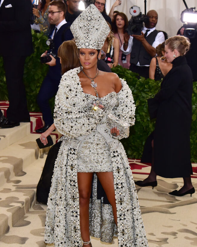 Rihanna== Heavenly Bodies: Fashion & The Catholic Imagination Costume Institute Gala== The Metropolitan Museum of Art, New York, NY== May 7, 2018== ©Patrick McMullan== Photo - Sean Zanni/PMC== ==