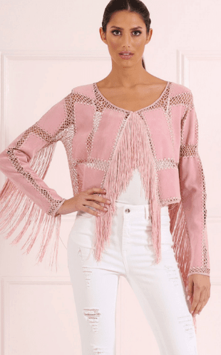 Forever Unique Fringe Jacket $179
