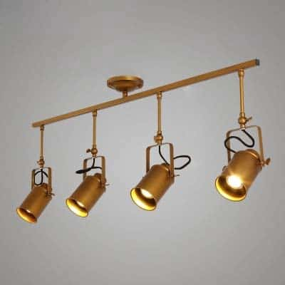 "Gold Finished Four Light 39"" $119.87"