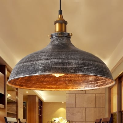 1-Light Aged Silver Shade Dome $51.55