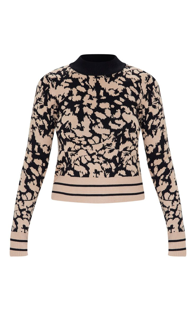 Camel Animal Jacquard Sweater. Just love the design on this one.